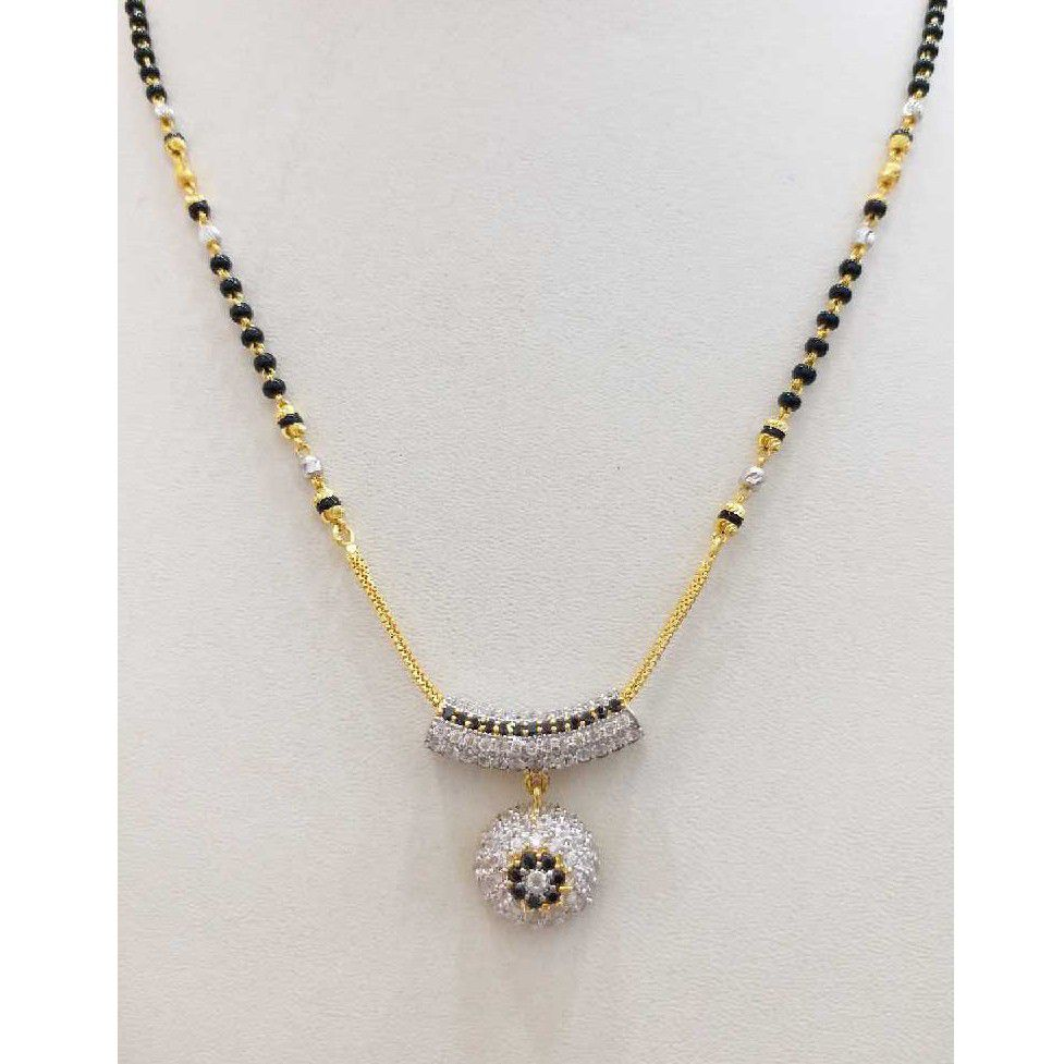 916 gold chain mangalsutra RJ-M028