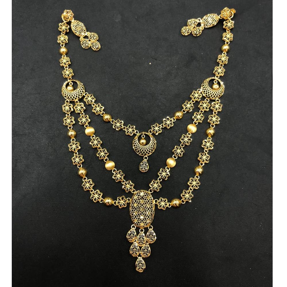 22K Gold Triple Layer Designer Necklace Set