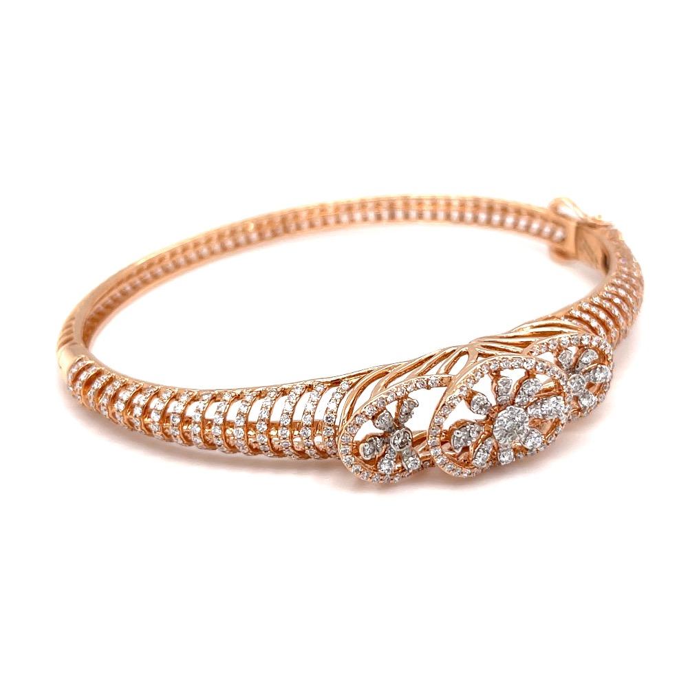 Fancy diamond bracelet for casual everyday wear in hallmark gold