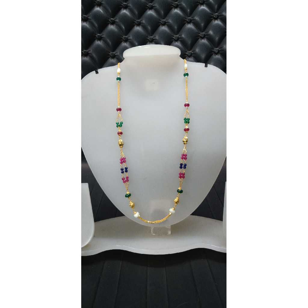 22KT Colorful Gold Mala