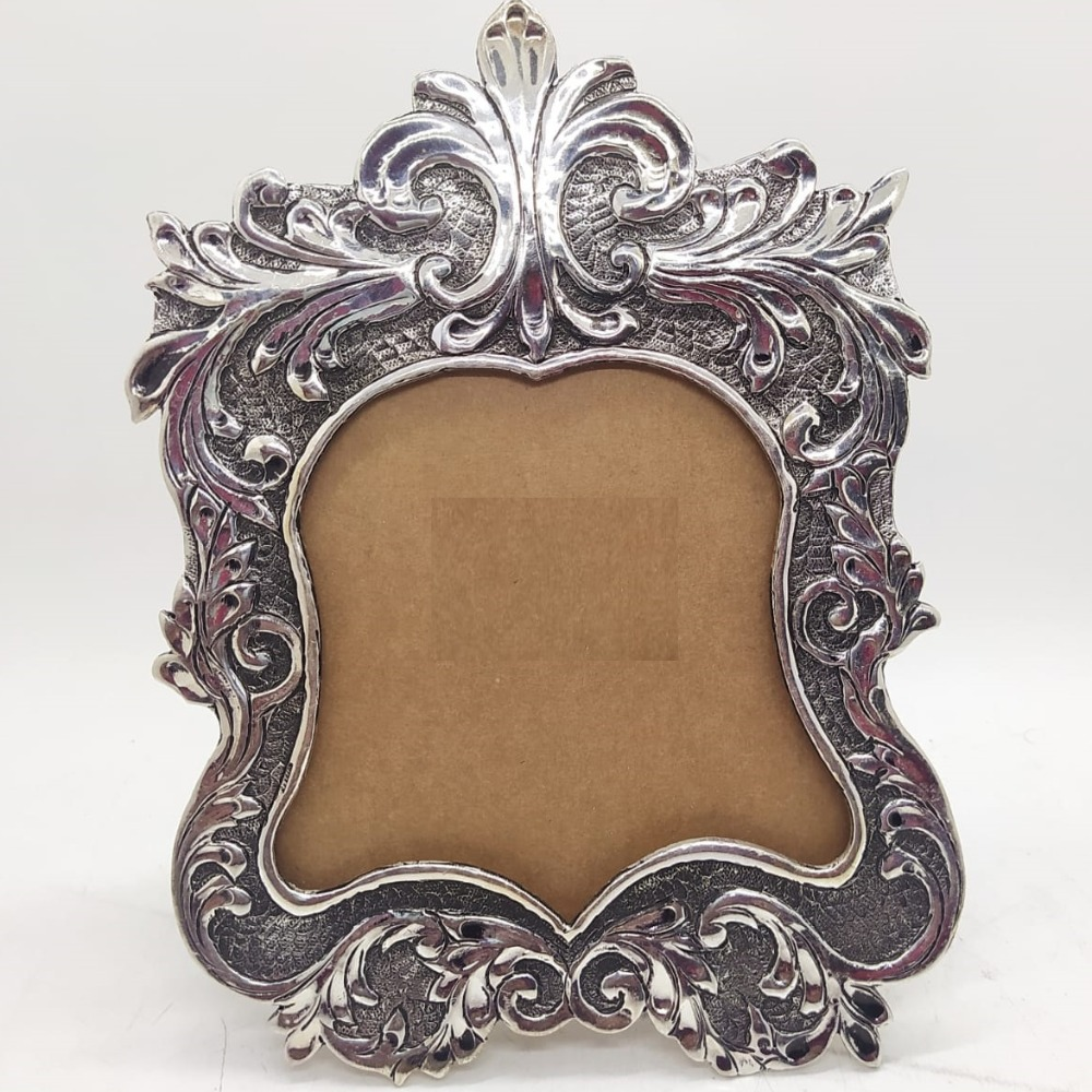 925 Pure Silver Photo Frame In Antique Nakashii work PO-171-23
