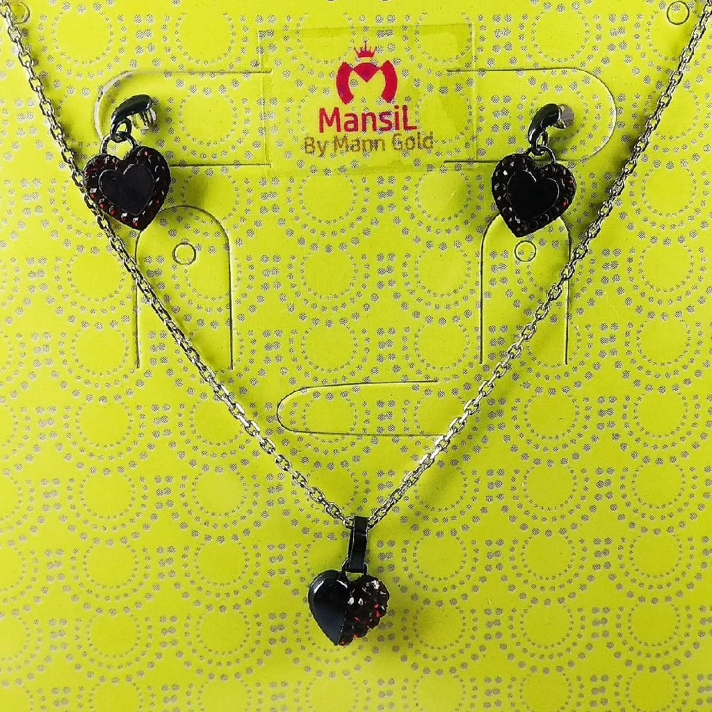 New light weight fancy heart shaped 925 sterling silver chain set
