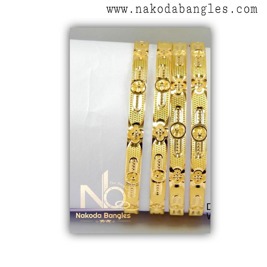 916 Gold CNC Bangles NB - 1321