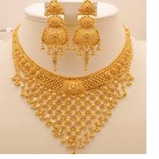 22KT Gold Bridal Necklace Set