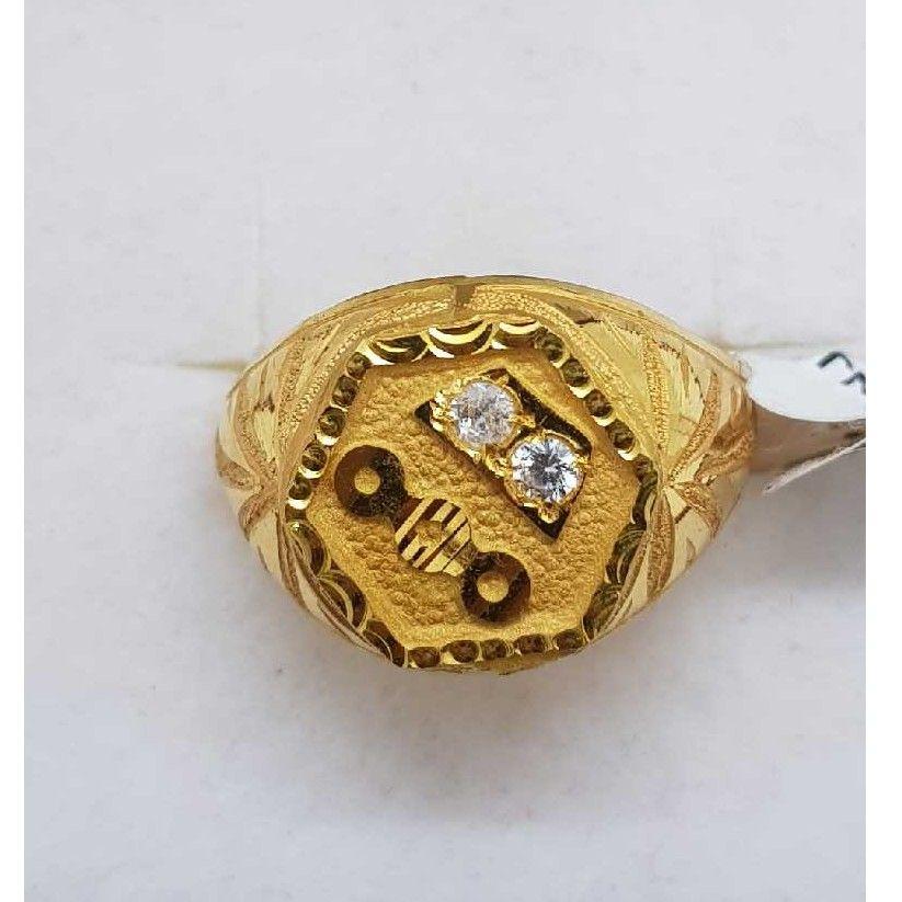 916 Gold studded gents ring SJ-GR/26