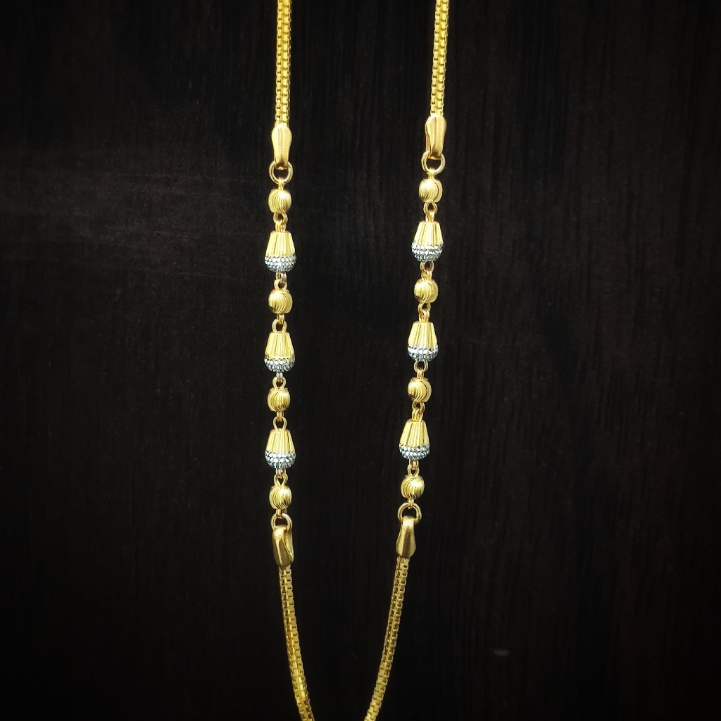 916 gold fancy ball chain