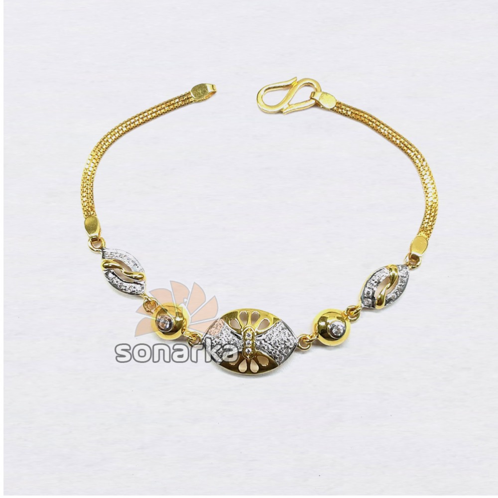 22KT Plain Gold AD Ladies Lucky