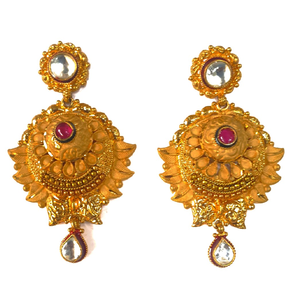 One gram gold forming necklace set mga - gfn0025