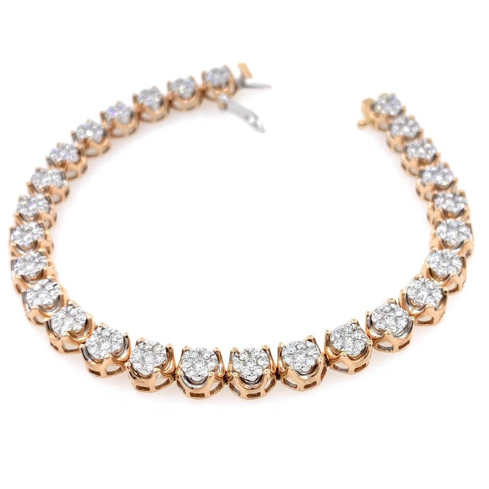 Bellissimo Diamond Tennis Bracelet in Rose Gold 9BRC29