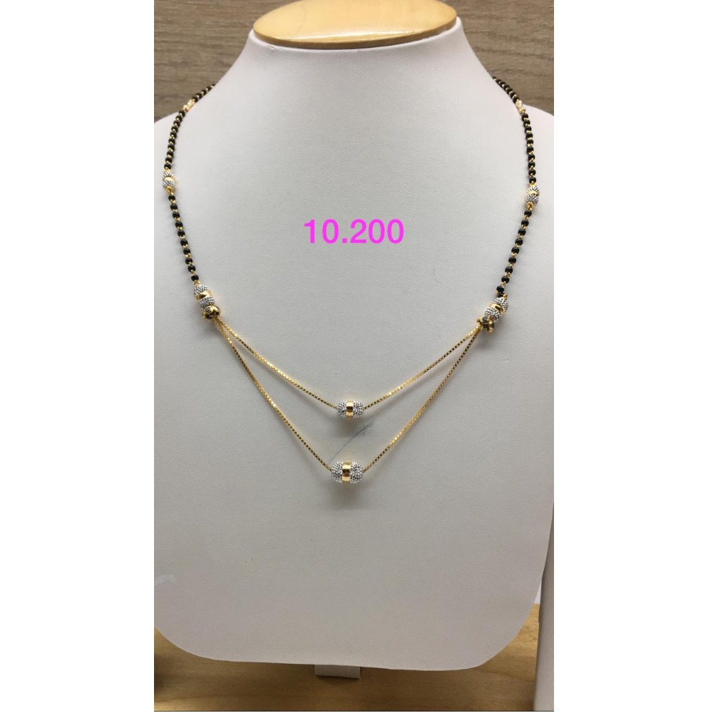 916 Gold Fancy Double Layer Mangalsutra IO-M01