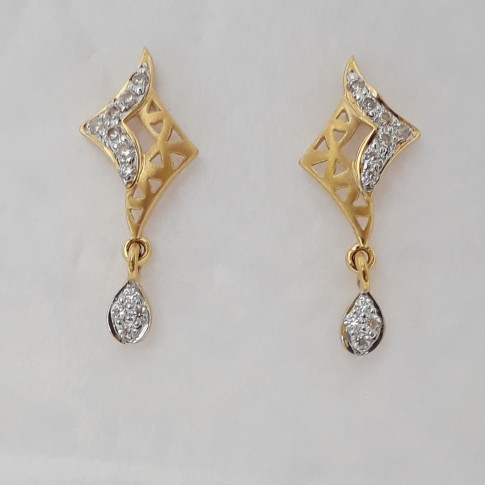 916 cz gold exclusive earrings