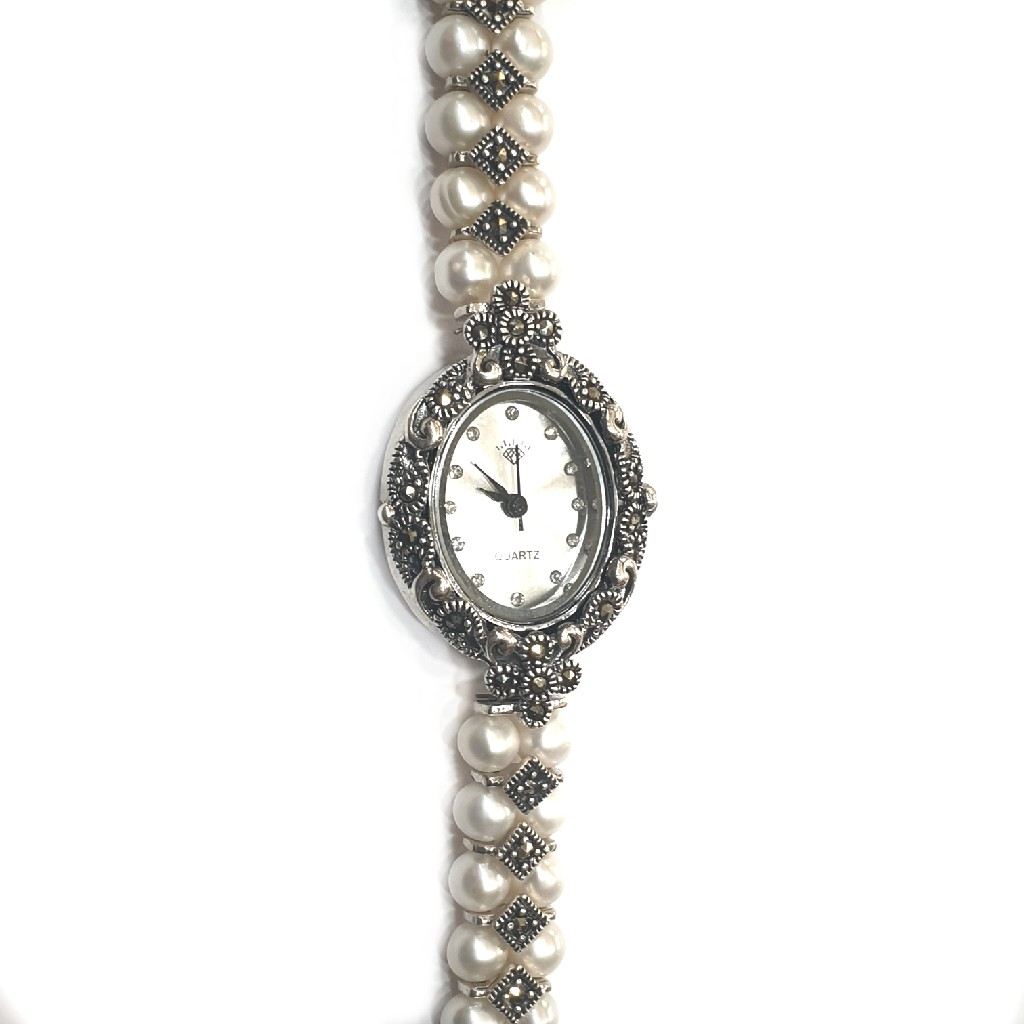 925 sterling silver pearl watch mga - sw005