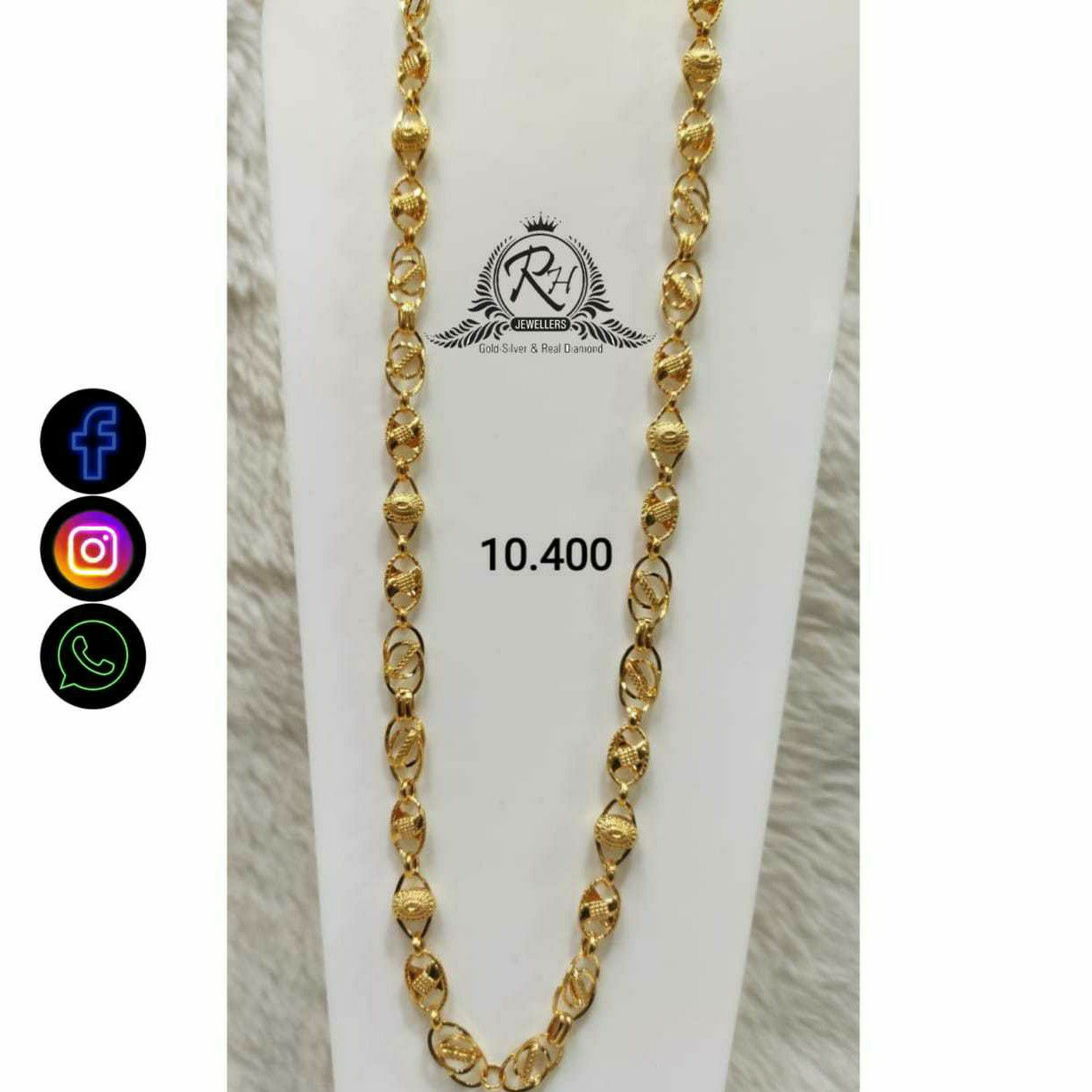 22 Carat Gold Traditional Gents Chain RH-CH775