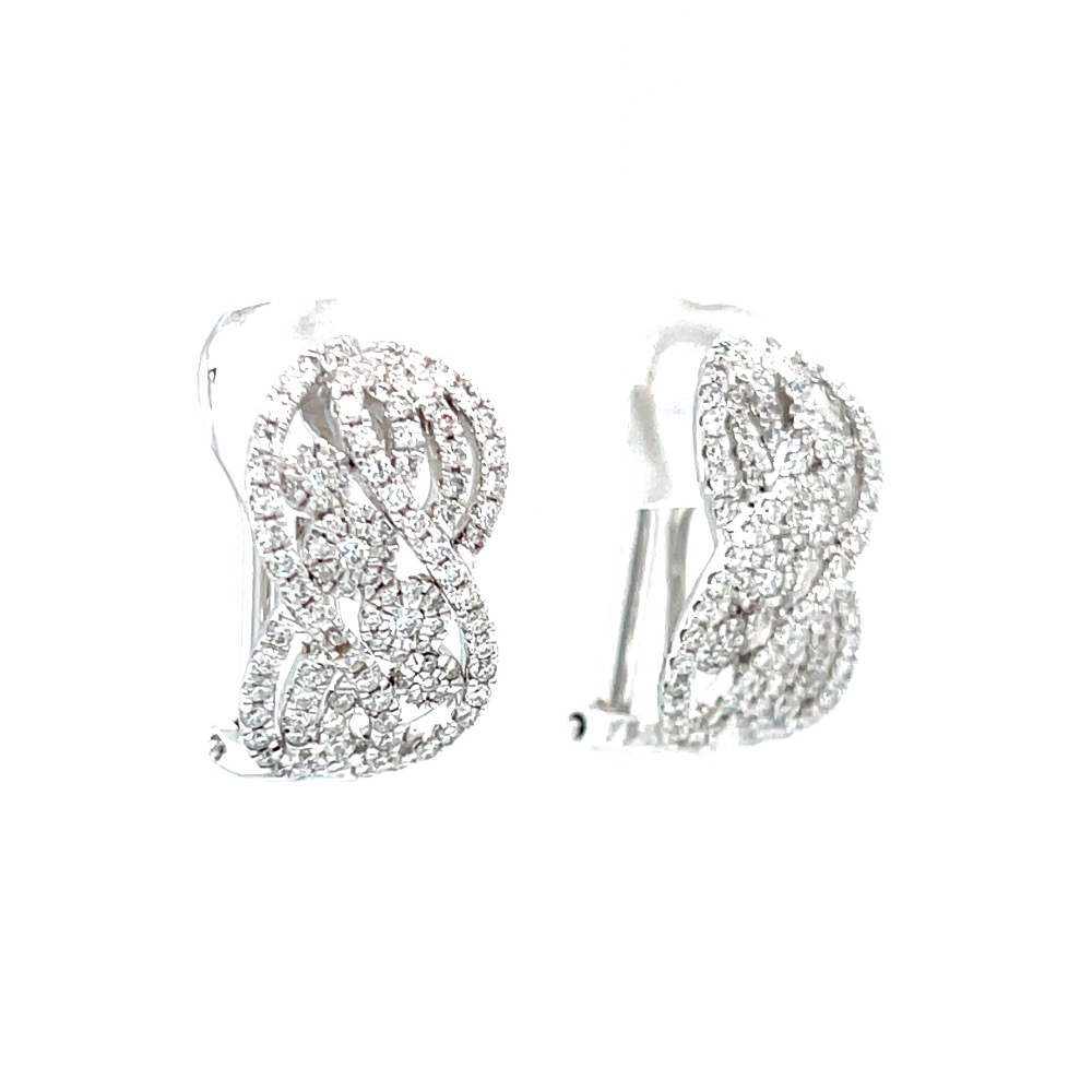 Delicate Everyday Wear Bali in White Gold 7TOP35