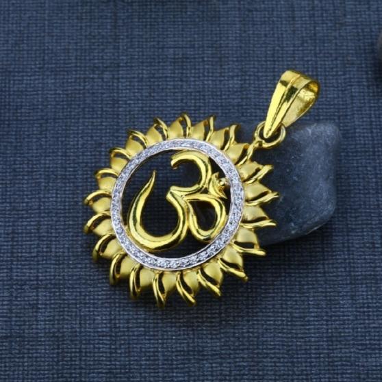 22 carat gold men's exclusive om pendants RH-GP571