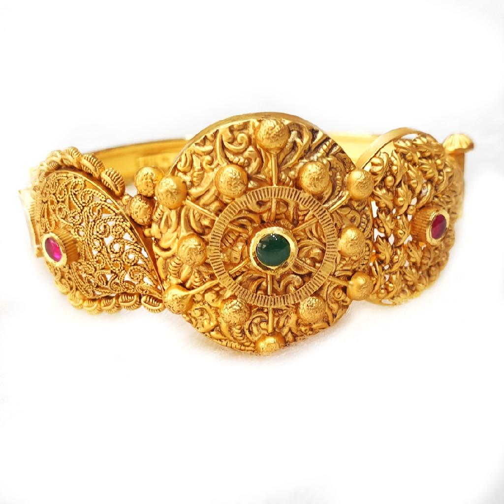 22k Gold Antique Kada Bangles MGA - GP063