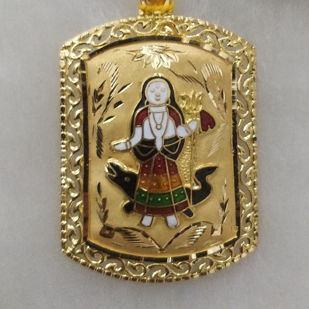 916 Gold Fancy Khodiyar Maa Pendant