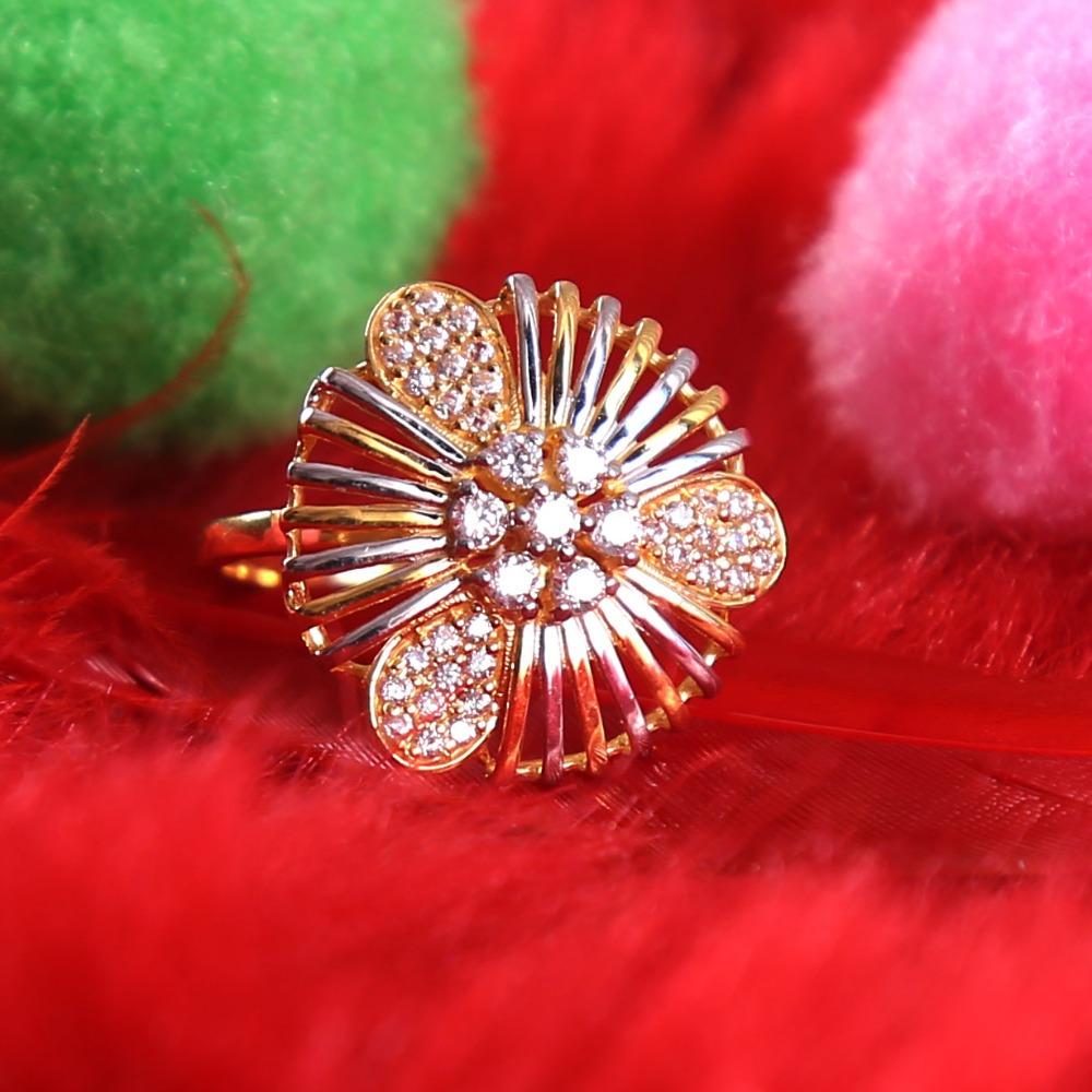 916 gold cz daimond  ladies ring