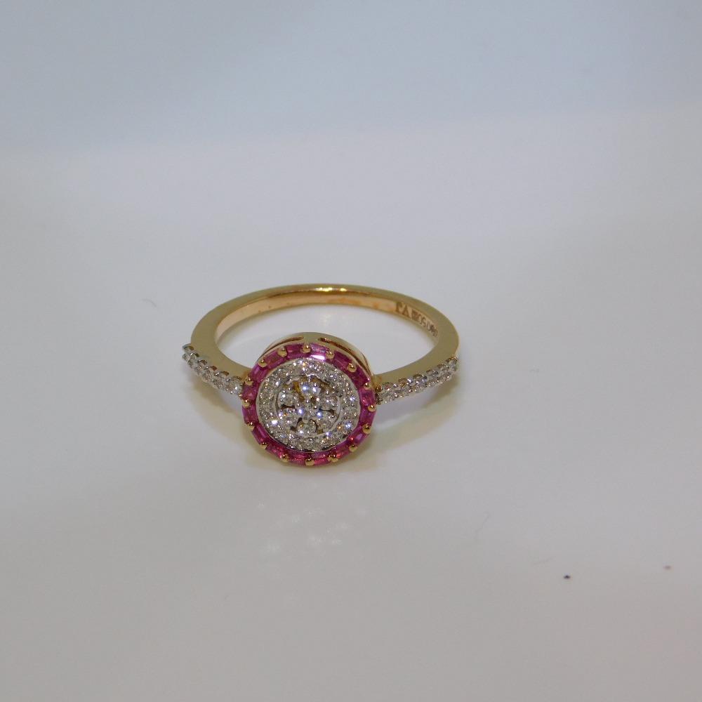 18K gold diamond ring agj-lr-290