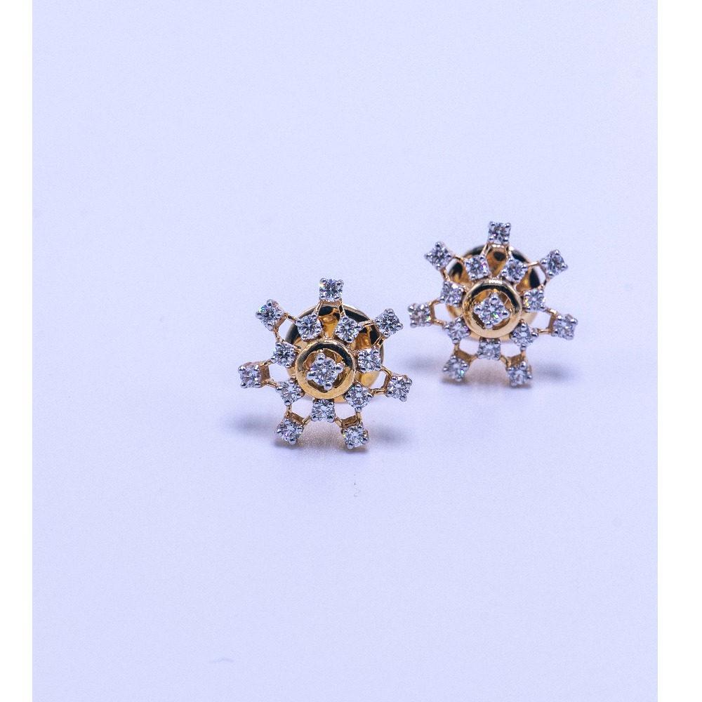 18k gold diamond earrings agj-er-07