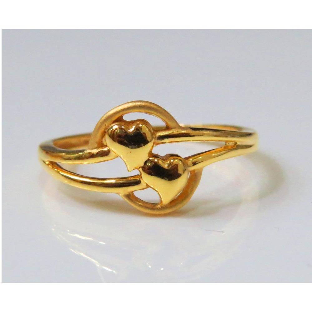 22kt Gold Plain Casting Ladies Ring