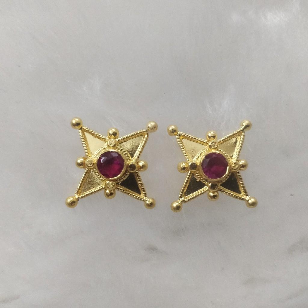 916 Gold Gent's Earrings