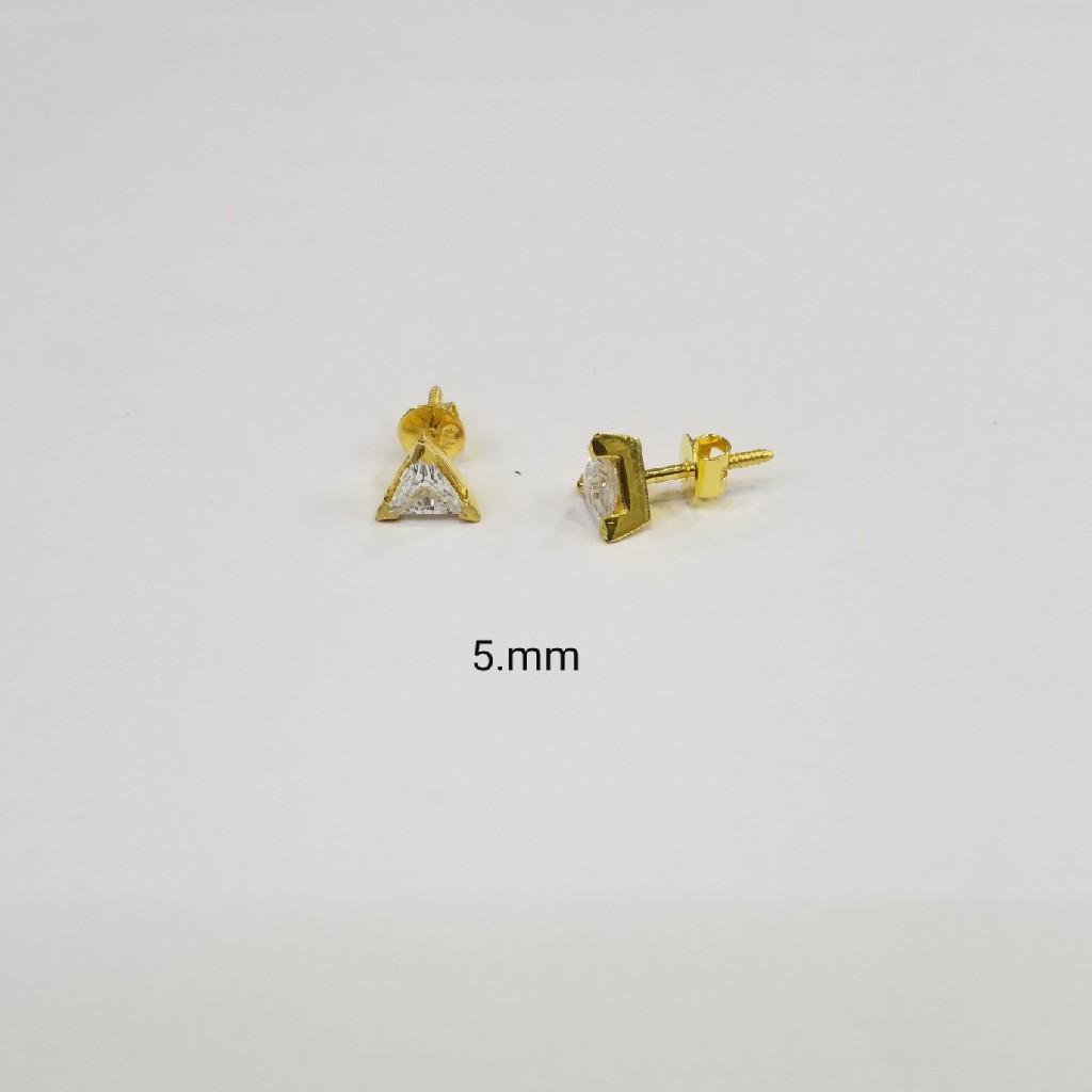 18kt gold c ston butti BC4245