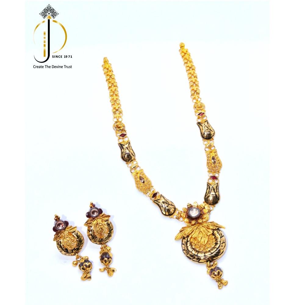 916 / 22 ct Yellow gold jadtar set for women STG0017