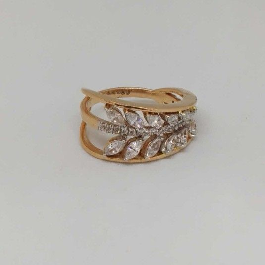 18 Kt Rose Gold Ladies Branded Ring