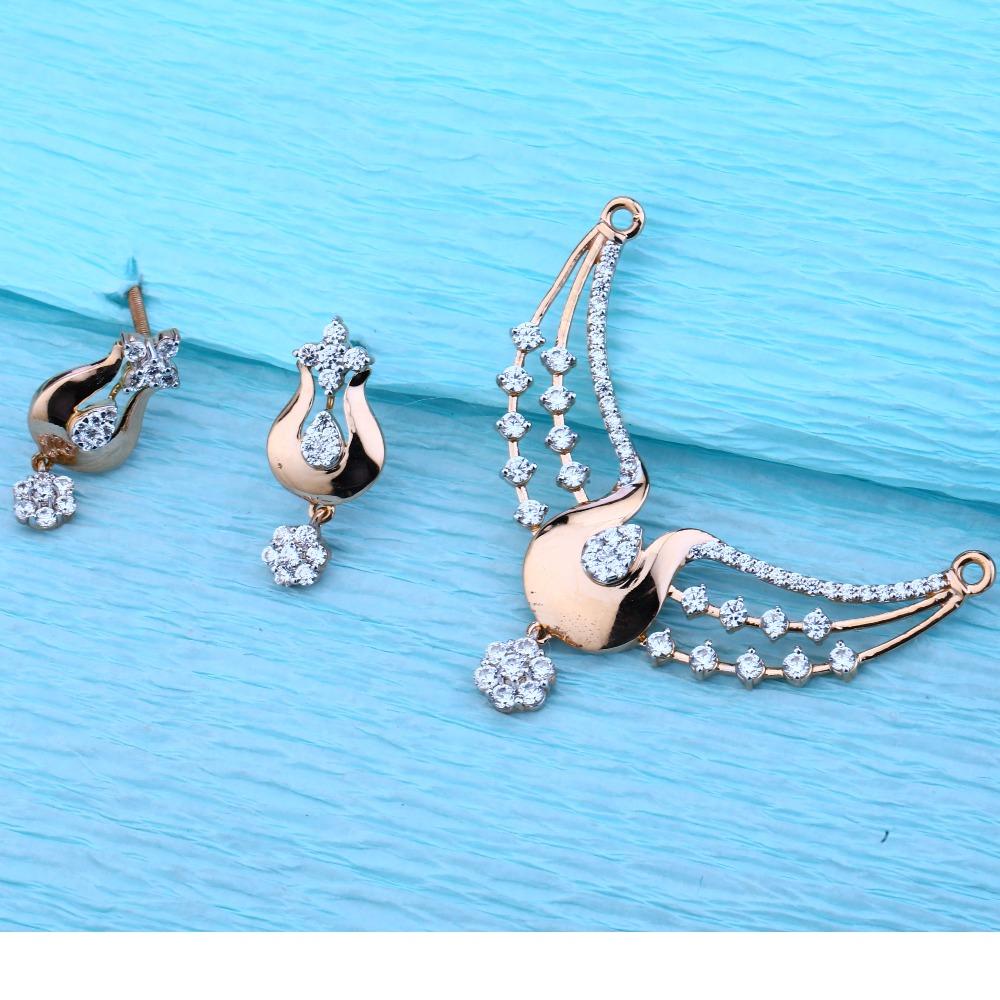 18KT Rose Gold Ladies Hallmark Exclusive Pendant Set  RMPN50