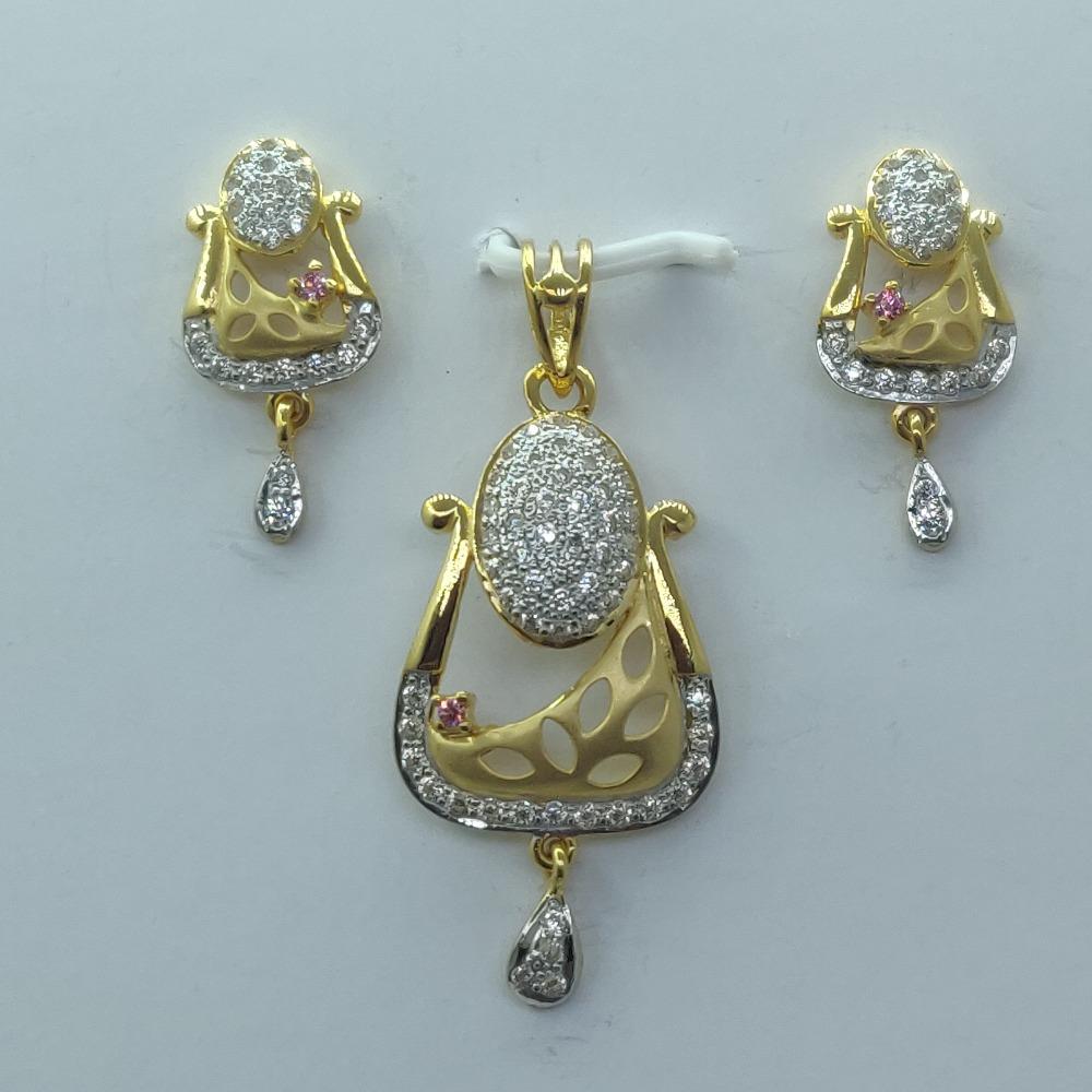 916 Gold CZ Fancy Pendant Set For Women SSJ-PS003