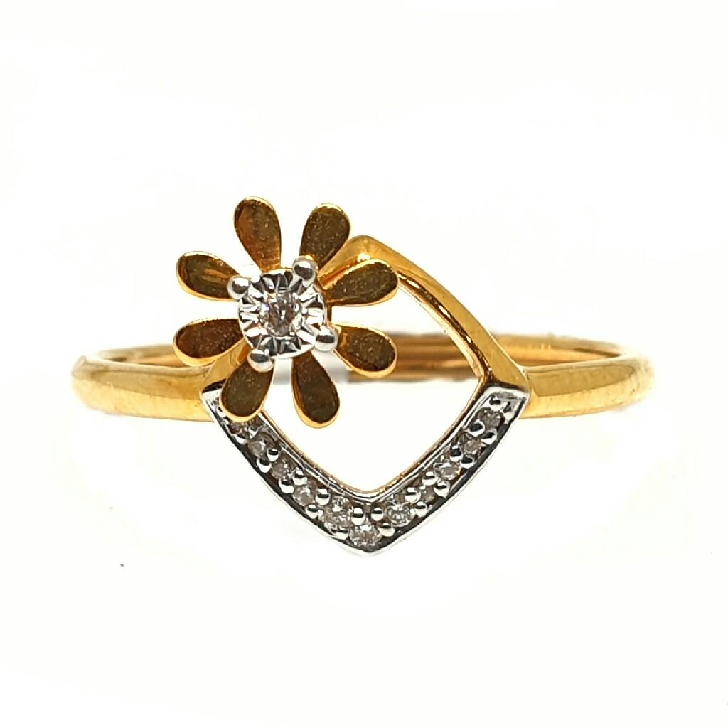 18k gold real diamond ring mga - rdr0025