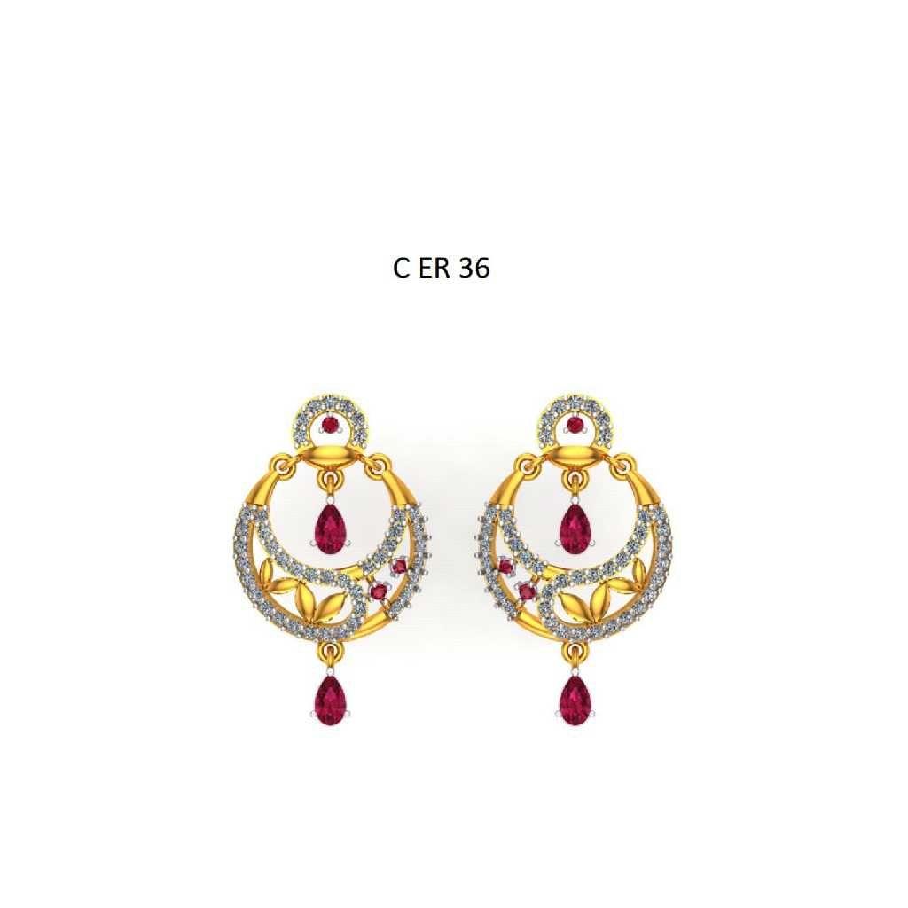76 gold cz Chand Bali 036