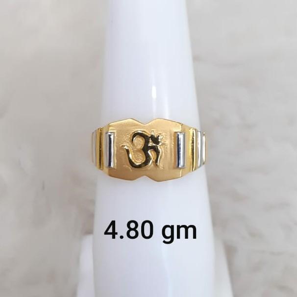 916 plain light weight gent's ring