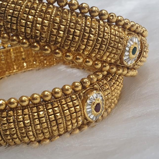 22k gold bridal kada bangles