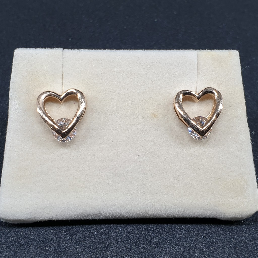 18k Rose Gold Earring