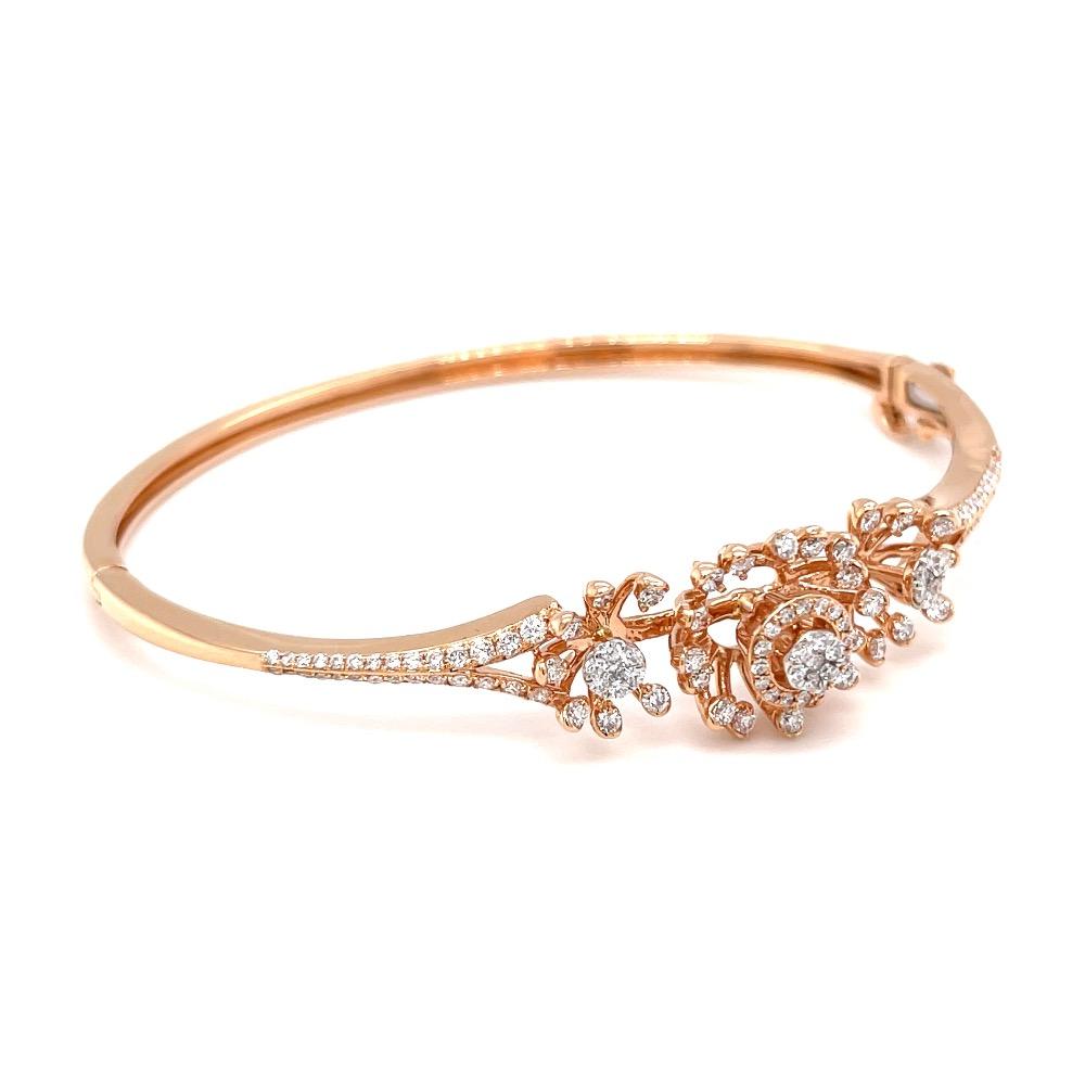 Kusimba diamond bracelet with pressure set in rose gold