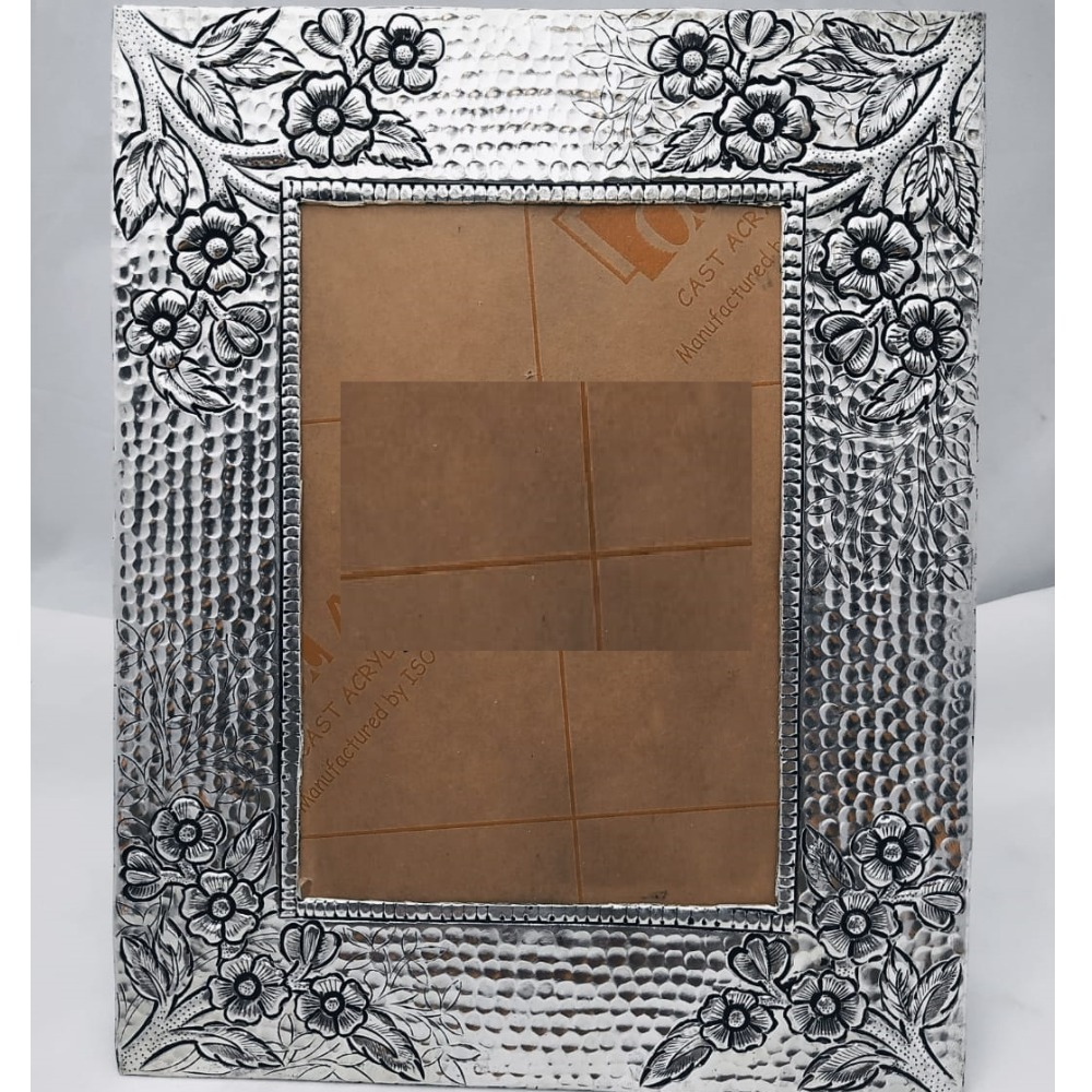 925 Pure Silver Photo Frame In Antique Nakashii work. PO-171-20
