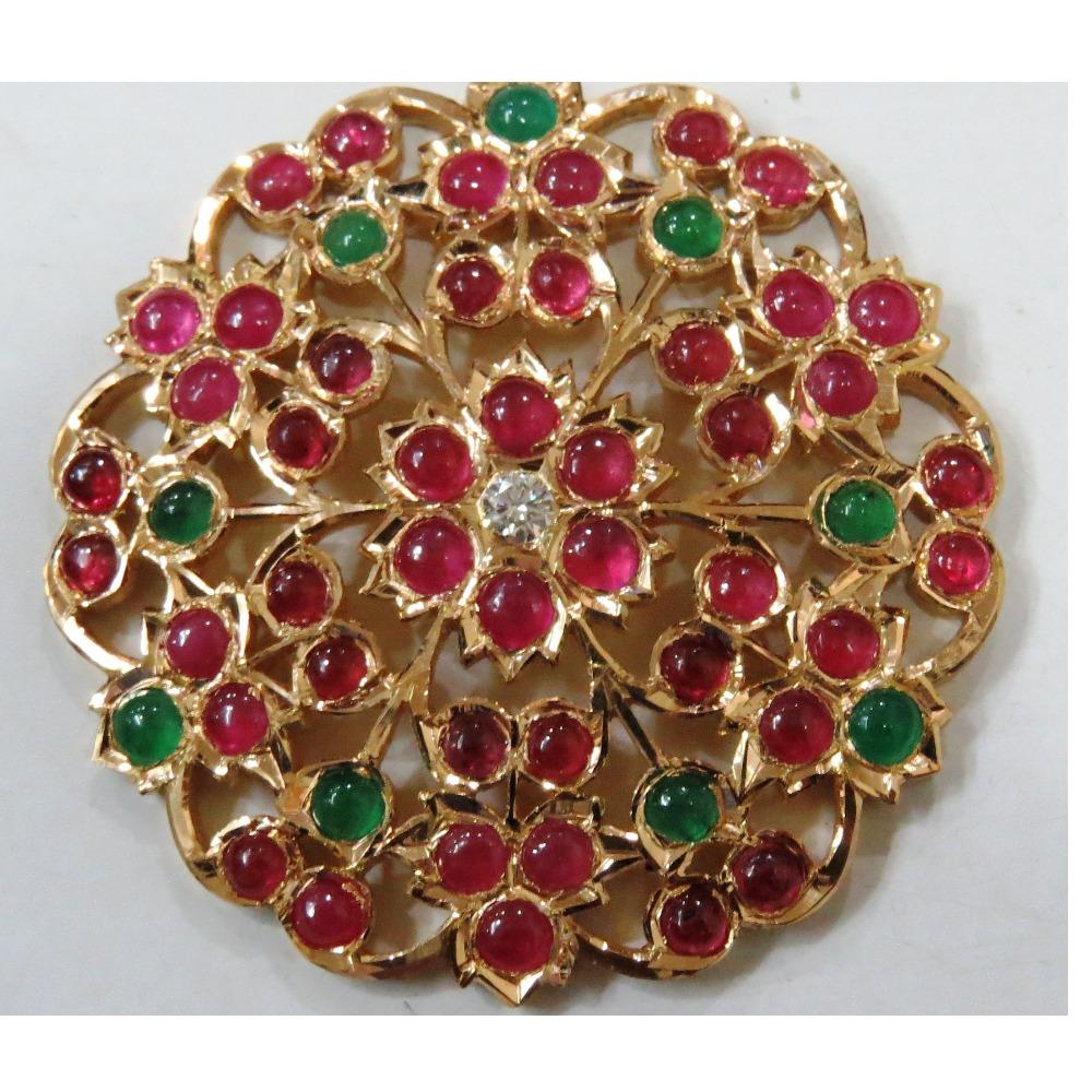 22kt gold close setting south indian Thiru Billai for women