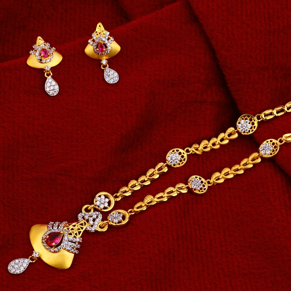 22ct  Gold  Stylish Chain Necklacec  CN80