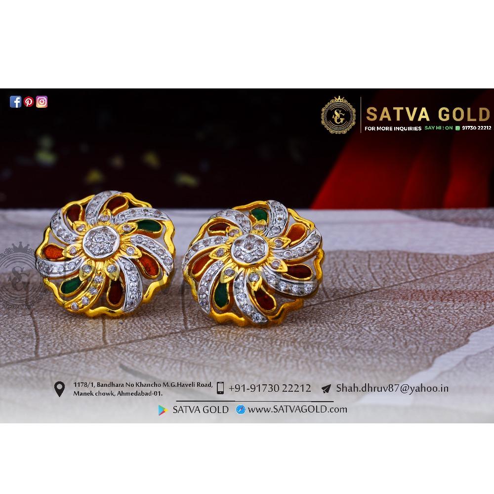 916 gold earrings sge-0048