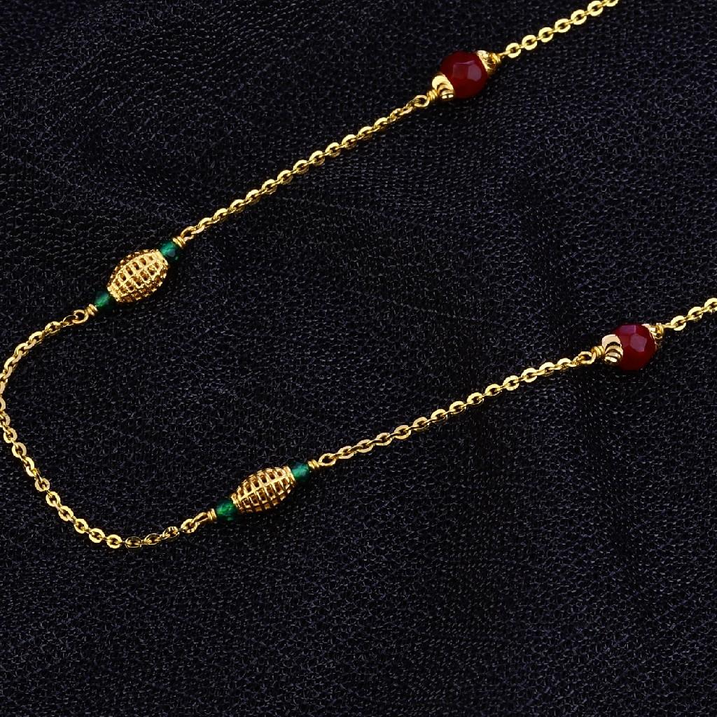 Single Line Delicate 22K Gold Moti Mala-AC129