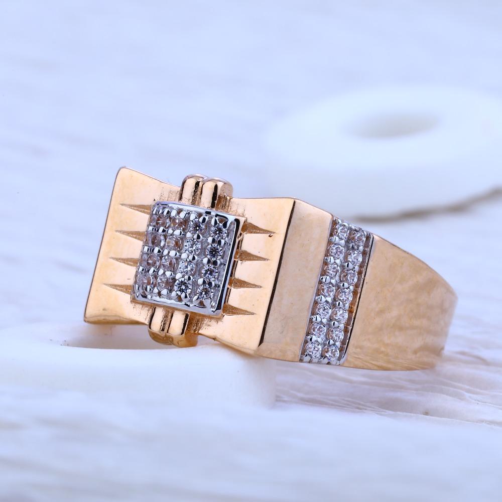 750 Rose Gold Gorgeous Hallmark Men's  Ring RMR54
