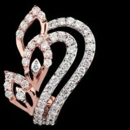18KT Rose gold special occasions pendant set for Ladies PBG1002