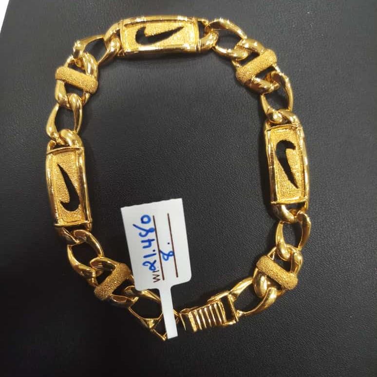 22 kt gold fancy chain