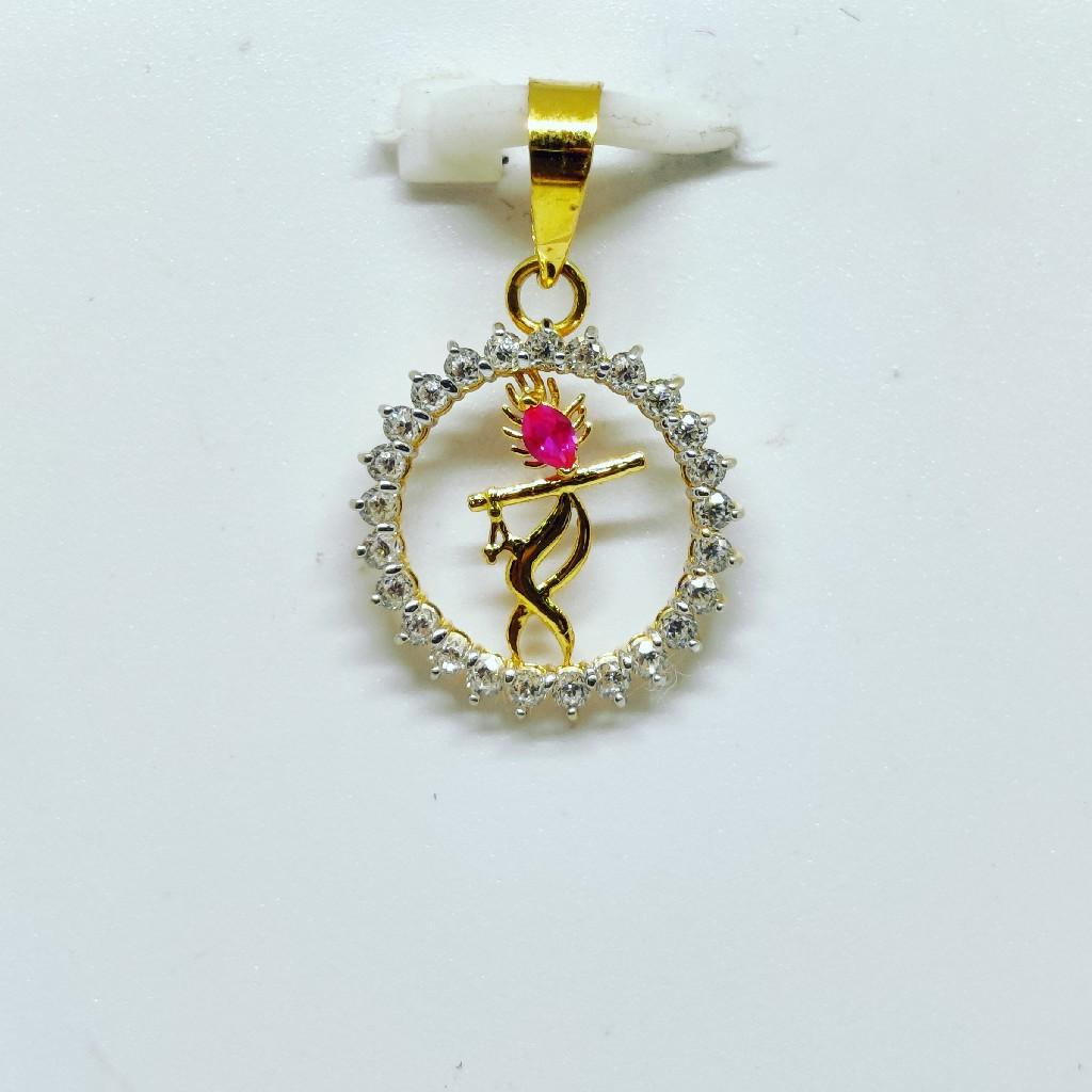 18 KT 750 Hallmark fancy diamond Shree Krishna Pendent