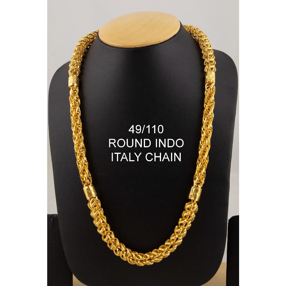 916 Gold Round Indo Italy Chain ML-C02
