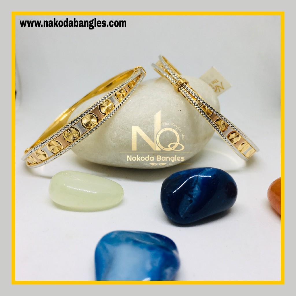 916 Gold CNC Bangles NB - 1272