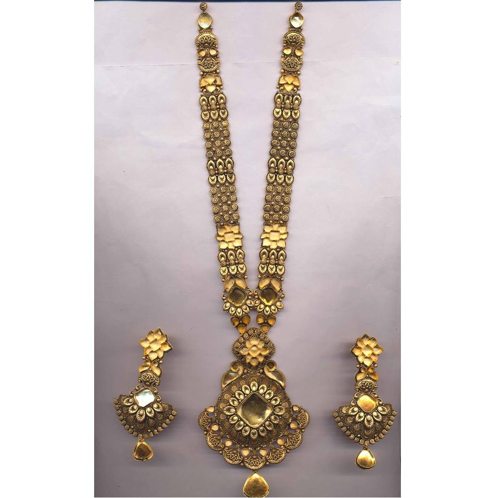 916 Gold Antique Jadtar Ranihar PJ-N009