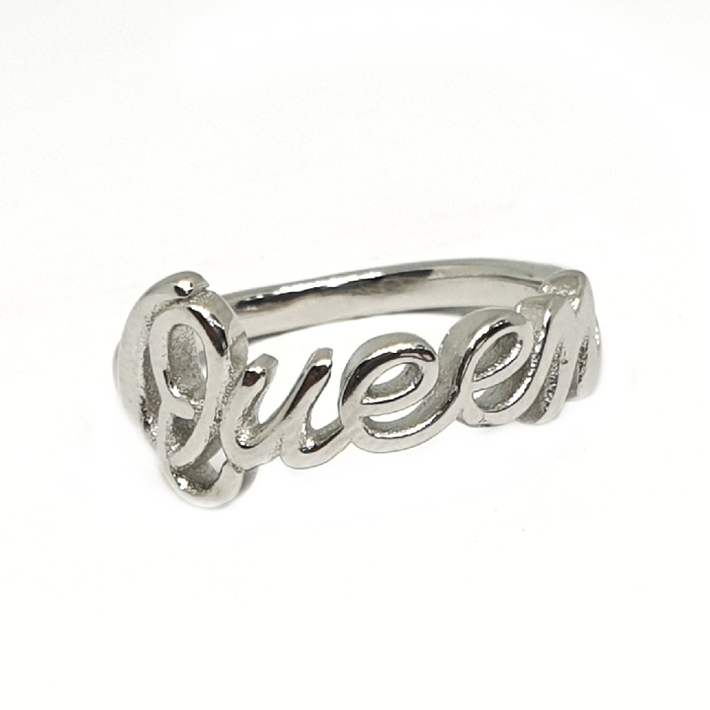 925 sterling silver queen ring mga - lrs3378
